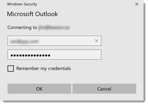 Outlook Credential Begging